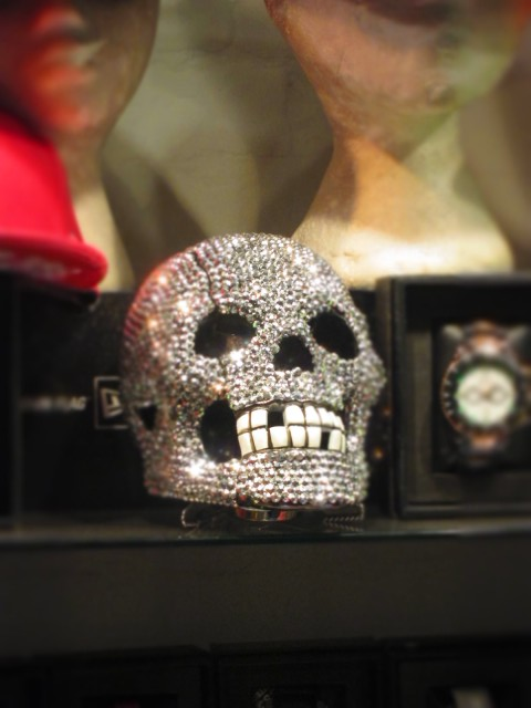 Calavera with Encrusted with Sequins